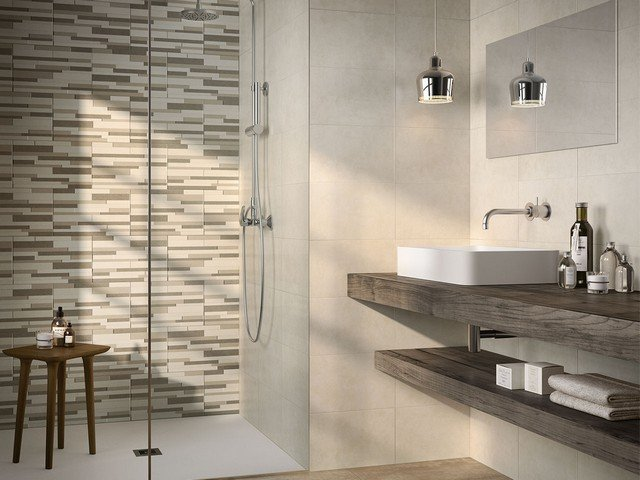 Mosaico foglio 30x30 listello - Ceramica bagno moderno ...